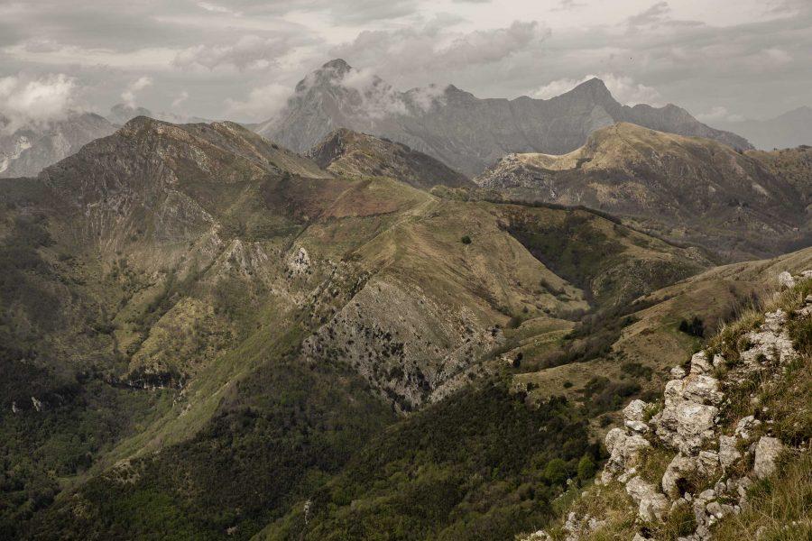 Apuane Meridionali dalla vetta del Monte Prana
