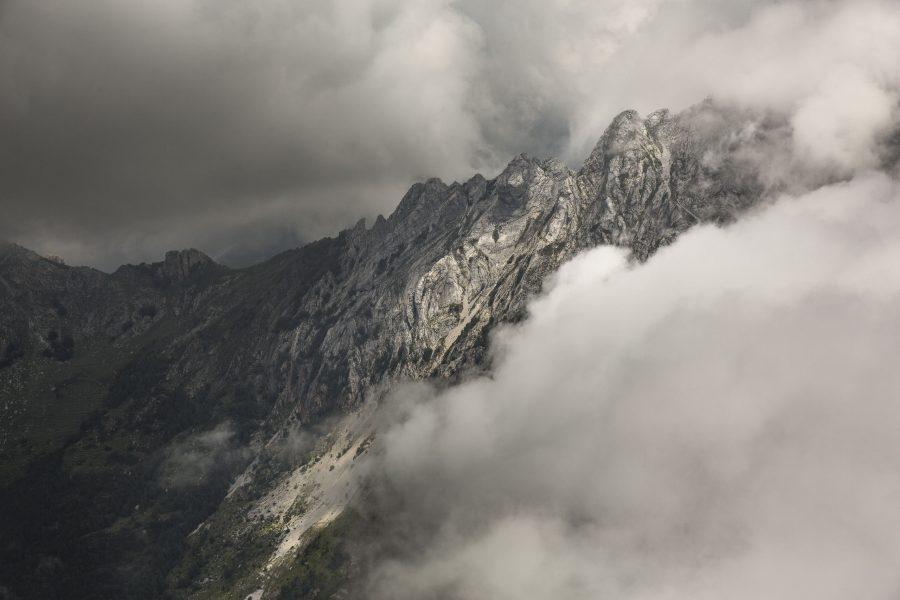 Monte Grondilice tra le nuvole