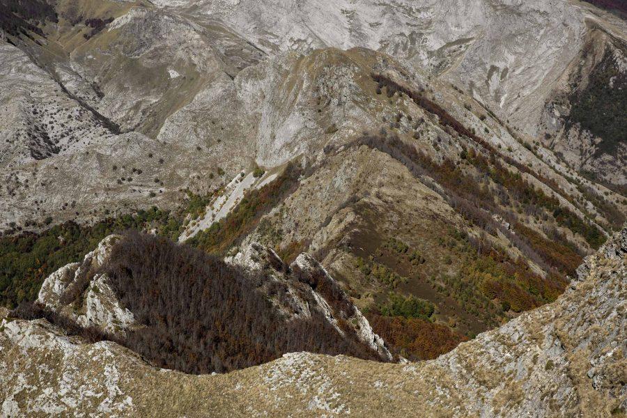 Monte Freddone dalla vetta del Corchia
